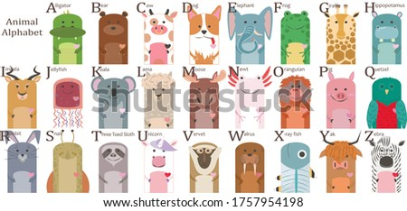 children's poster with animals and the alphabet