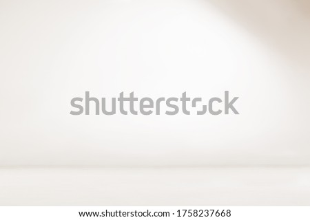 Empty white room. Seamless white photography backdrop. Infinity curve, cyc wall, cyclorama.  #1758237668