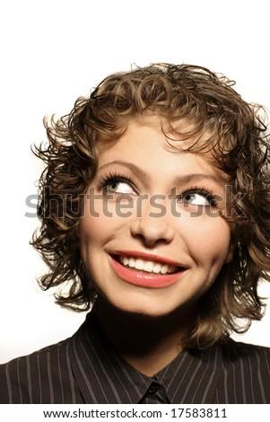 pretty smiling woman #17583811