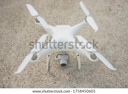 Drone landing on the ground