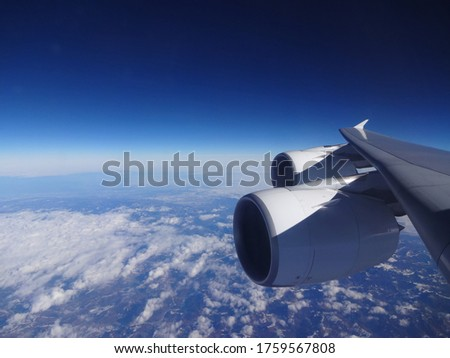 Picture on the sky and airplane