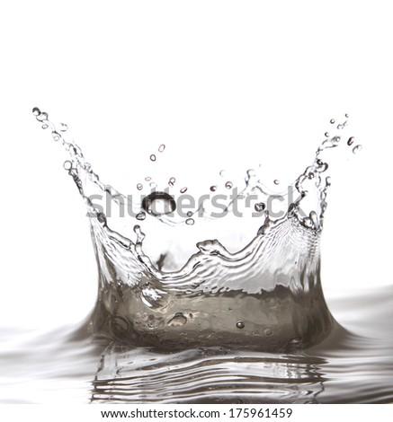 Fresh water splash as a beautiful crown #175961459