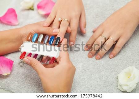 Spa salon. Manicure. #175978442