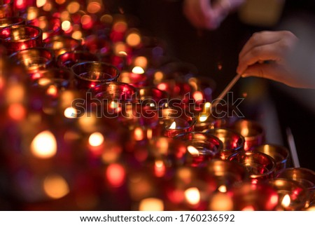 Lighting Candles Prayer Hands Fire