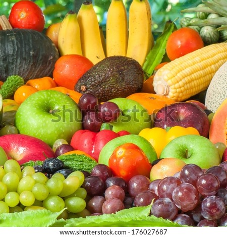 Fruits and vegetables  #176027687