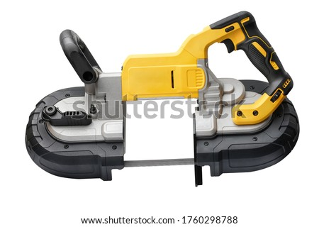 Power tool .Deep Cut and Compact Band Saws,cordless band saws,Portable Band Saw on white background                           #1760298788