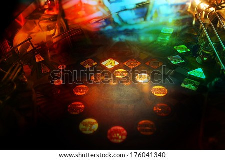 Pinball background Royalty-Free Stock Photo #176041340