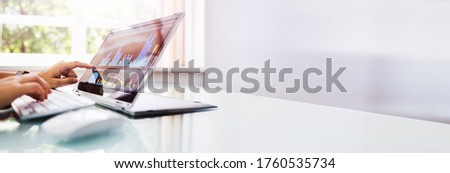 Online Business Analytics And KPI Dashboard On Laptop Royalty-Free Stock Photo #1760535734