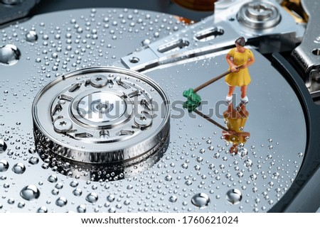 concept of hard disk clean