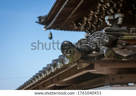 Roof tiles seen in temple architecture #1761040451