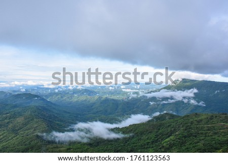 Panoramic colorful picture of moutain scenery of Petchabun area