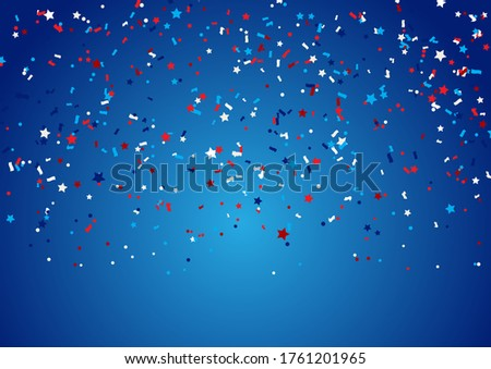 Confetti background for 4th July Independence Day holiday #1761201965
