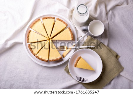 This is a picture of a lemon tart top view.