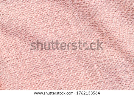 trendy pink cloth texture background. Pastel twill fabric backdrop