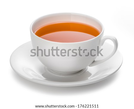 cup of tea on white background #176221511