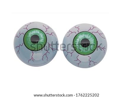 funny cartoon eyes isolated on white background