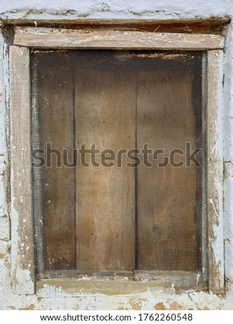 Photo of wooden window of old Indian house with selective focus, selective focus on subject, background blur #1762260548