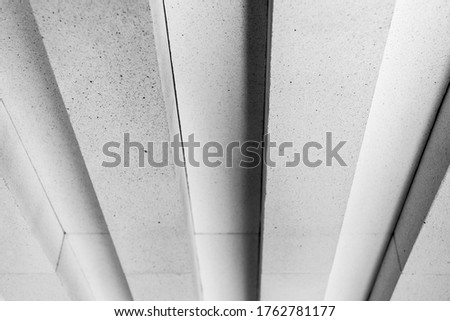 View from a low angle of bricks side by side - on a wall. The front of the brick wall photo #1762781177
