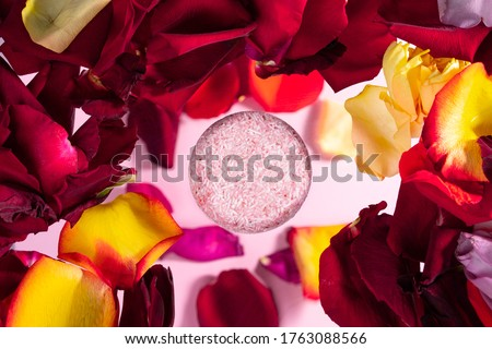 solid shampoo with the smell of flowers Royalty-Free Stock Photo #1763088566