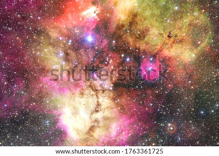 Awesome of endless cosmos. Science fiction wallpaper. Elements of this image furnished by NASA. #1763361725