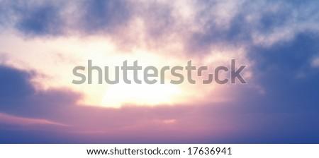 Beautiful sunset #17636941