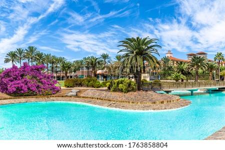 Cityscape of Maspalomas town, Gran Canaria, Spain #1763858804