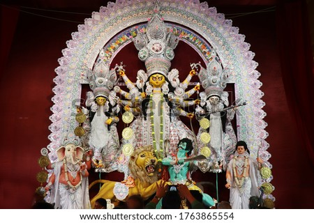 Durga Puja is the greatest festival of India. Durga puja festival showcases Indian culture. Kolkata Durga puja is very much popular Bengali festival. Durga Puja is the best Hindu festival. #1763865554
