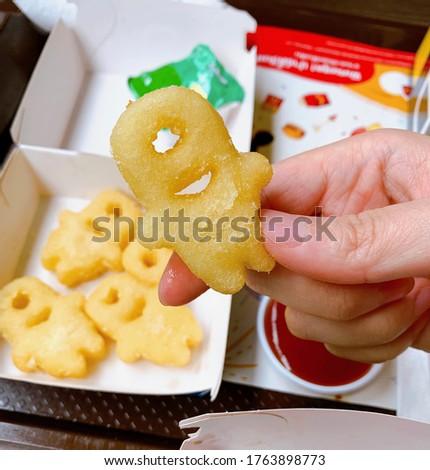 Minions shape potato deep fried