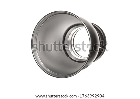 Reflector Bowl Light Modifier for Studio Strobes Flash Flashes with Bowens Mount. Silver Reflector Bowl Light Shaping Attachment to Modify the Spread of the Studio Light Clipping Path