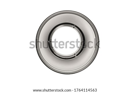 Reflector Silver Bowl Light Modifier for Studio Strobes Flash Flashes with Bowens Mount. Reflector Bowl Light Shaping Attachment to Modify the Spread of the Studio Light Clipping Path Included in JPEG