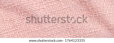 trendy pink cloth texture background. Pastel twill fabric backdrop, banner
