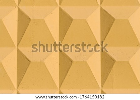 Yellow background with volumetric symmetry square elements