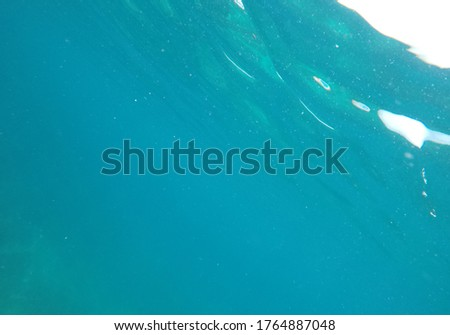 Underwater abstract picture of water and bubbles.
