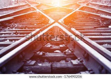 The way forward railway Royalty-Free Stock Photo #176490206