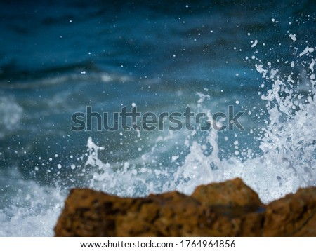 Huge waves and rough seas