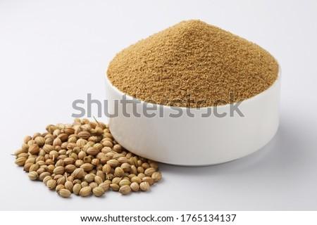 Indian spices, Coriander Powder or Dhaniya Powder with Coriander seeds  #1765134137