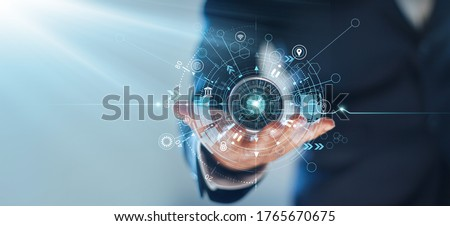 Business navigate recovery, Abstract, The compass navigate for businessmen to resume business growth in the economic crisis. Royalty-Free Stock Photo #1765670675