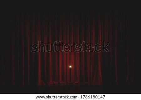 The Theatre Curtain Goes Up Royalty-Free Stock Photo #1766180147
