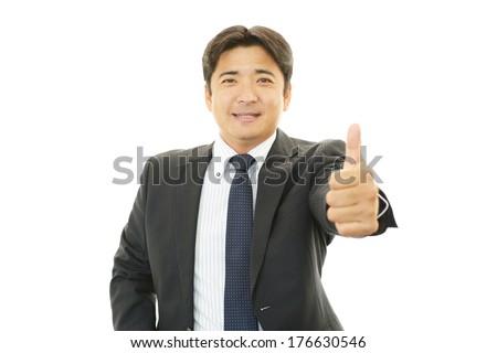 Businessman enjoying success #176630546