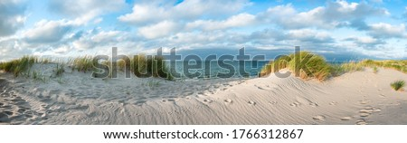 Dune beach as background panorama Royalty-Free Stock Photo #1766312867