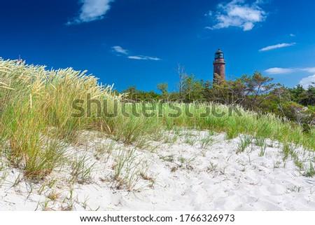 Baltic sea, Germany, Mecklenburg-Western Pomerania, Darss, Prerow, lighthouse Royalty-Free Stock Photo #1766326973
