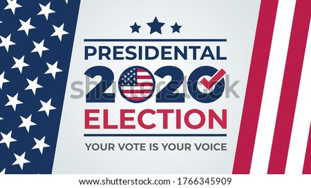 Election day. Vote 2020 in USA, banner design. Usa debate of president voting 2020. Election voting poster.  Political election campaign #1766345909