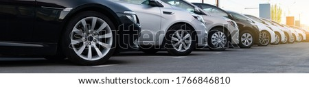 Cars in a row. Used car sales Royalty-Free Stock Photo #1766846810