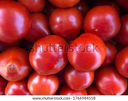 Macro photo red tomato. Stock photo red fresh vegetable tomatoes.  #1766984558