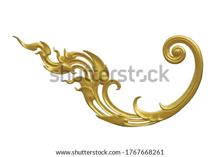 Rococo Thai pattern frame border, vintage modern borders, border design grunge banner pattern, certificate. Wedding border. Wedding ornament. isolated on white background. This has clipping path. #1767668261