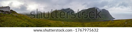 Lofoten, Norway, View from the trail to Ryten, Ytresand, Norway