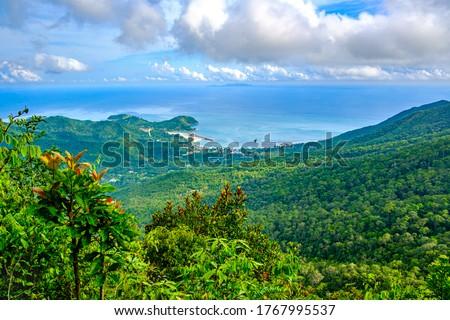 Landscape sea and sky view on Khao Ra mountain - the highest mountain on Koh Phangan island,Thailand #1767995537