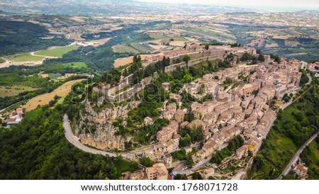 Civitella del Tronto is a remarkable cliff-top town in the Gran Sasso e Monti della Laga National Park of Italy, Abruzzo region in Italy #1768071728
