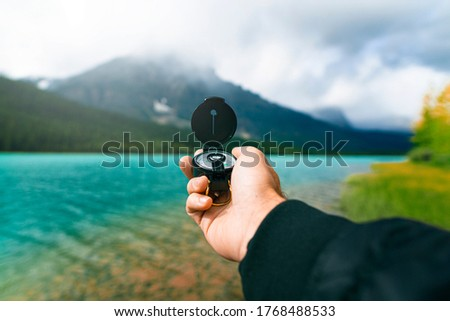 Adventure Outdoors In Summer Exploration Lake Mountains #1768488533