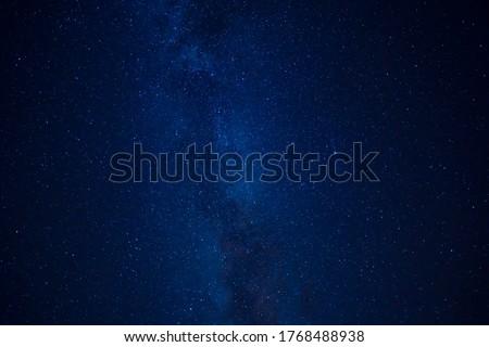 Blue Sky Dark With Stars And Milky Way At Night #1768488938